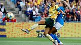 Australia fight back to beat Brazil as Marta scores landmark goal
