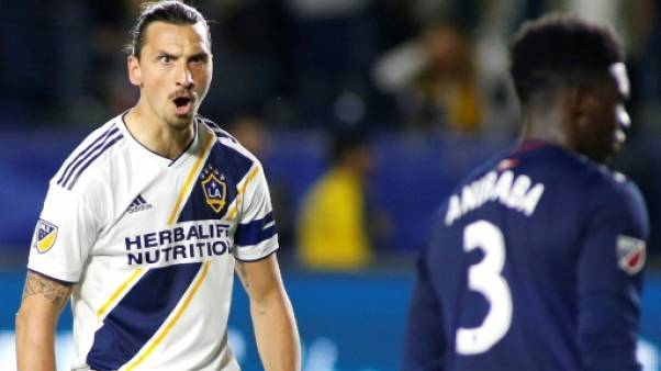 L'attaquant des Los Angeles Galaxy Zlatan Ibrahimovic contre New England Revolution, le 2 juin 2019 à Carson (Californie)