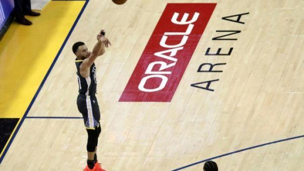 Stephen Curry des Golden State Warriors lors du match 6 de la finale NBA face aux Toronto Raptors, à Oakland, le 13 juin 2019