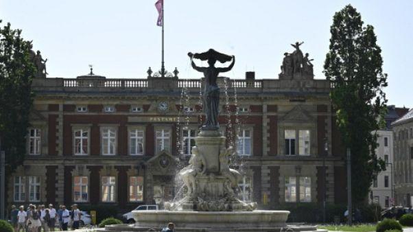 Une place du centre historique de Görlitz, le 12 juin 2019 en Allemagne