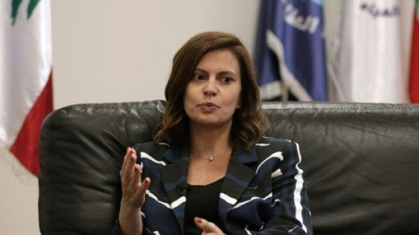 La ministre libanaise de l'Energie Nada Boustani lors d'un entretien avec l'AFP le 12 juin 2019 à Beyrouth