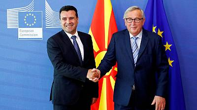 Macedonia on track for EU accession talks but not Albania -diplomats