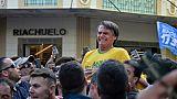 Jair Bolsonaro, alors candidat à la présidentielle, juste après son agression au couteau à Juiz de Fora, dans le sud du Brésil, le 6 septembre 2018