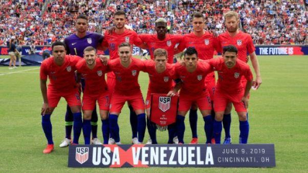 Le onze des Etats-Unis aligné face au Venezuela en match amical, le 9 juin 2019 à Cincinnati, dans l'Ohio