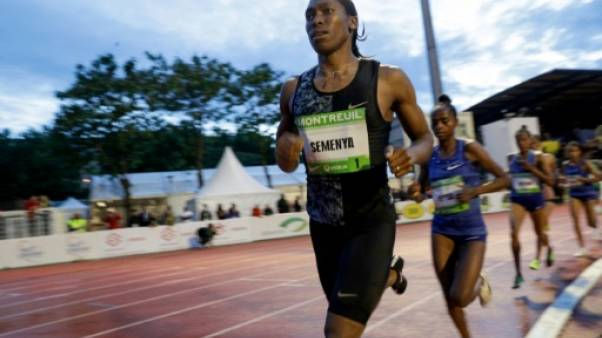 La Sud-Africaine Caster Semenya lors du 2000 m du meeting de Montreuil, le 11 juin 2019