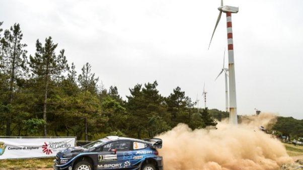 L'Estonien Ott Tänak durant la super spéciale 6 du Rallye de Sardaigne, près de Tula, le 14 juin 2019