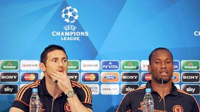 Chelsea: Lampard in panchina con Drogba