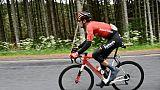 Le Néerlandais Tom Dumoulin lors de la 2e étape du Critérium du Dauphinée, entre Mauriac et Craponne-sur-Arzon, le 10 juin 2019