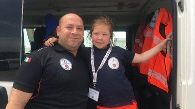 P.Civile,la baby volontaria d'Italia