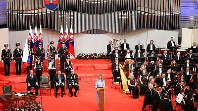 Anti-graft crusader sworn in as Slovakia's first female president
