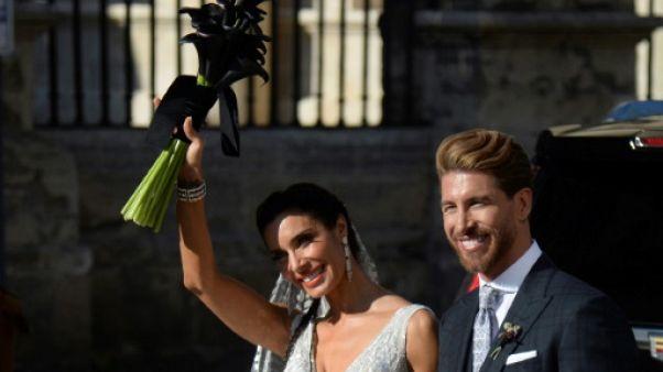 Le joueur du Real Madrid lors de son mariage avec Pilar Rubio le 15 juin 2019