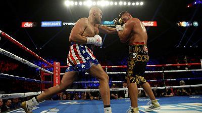 Fury the entertainer downs Schwarz in second round TKO
