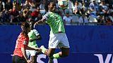 L'attaquante du Nigéria, Desire Oparanozie, lors du match de phase de groupes du Mondial face à la Corée du Sud, à Grenoble, le 12 juin 2019