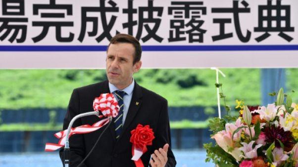 Jean-Christophe Rolland, président de la Fédération internationale des sociétés d'aviron (Fisa), à Tokyo, le 16 juin 2019