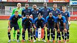 L'équipe de France Espoirs avant un match amical face à l'Austriche, à Hartberg en Autriche, le 11 juin 2019