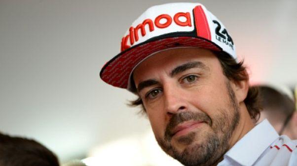 L'Espagnol Fernando Alonso en conférence de presse, avant les 24 Heures du Mans, le 14 juin 2019