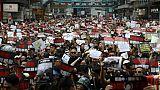 Manifestation monstre à Hong Kong le 16 juin 2019 pour exiger le retrait d'un projet de loi autorisant les extradictions vers la Chine