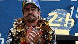 L'Espagnol Fernandon Alonso vainqueur des 24 Heures du Mans le 16 juin 2019