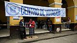 Un bureau de vote à San Juan Sacatepequez dans le sud du Guatemala, le 16 juin 2019