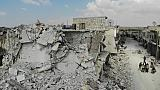 Des immeubles détruits à Ihsim, le 14 juin 2019 dans la région d'Idleb, en Syrie