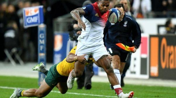 Défaite encourageante du XV de France, avec Virimi Vakatawa, battu par les Wallabies d'Australie, lors du test du 19 novembre 2016 au Stade de France