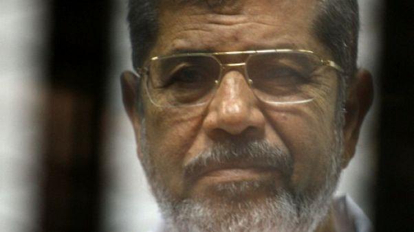 L'ancien président égyptien Mohamed Morsi le 9 mai 2014 au Caire, en Egypte