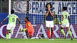 La capitaine des Bleues Wendie Renard après avoir manqué un penalty, contre le Nigeria à Rennes, le 17 juin 2019
