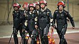 Les forces de l'ordre égyptiennes se déploient lors du derby caïrote  entre Al-Ahly et Zamalek, le 29 janvier 2015