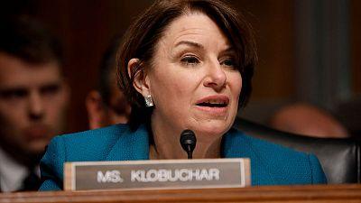 Democratic presidential hopeful Klobuchar details top policy goals