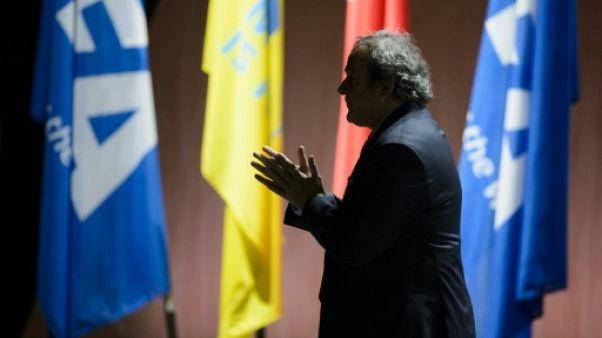 L'ancien président de l'UEFA Michel Platini lors du 65e Congrès de la Fifa à Zurich le 29 mai 2015
