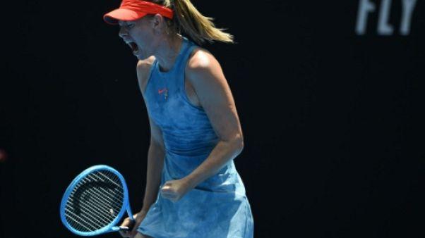 La Russe Maria Sharapova lors de l'Open d'Australie le 20 janvier 2019