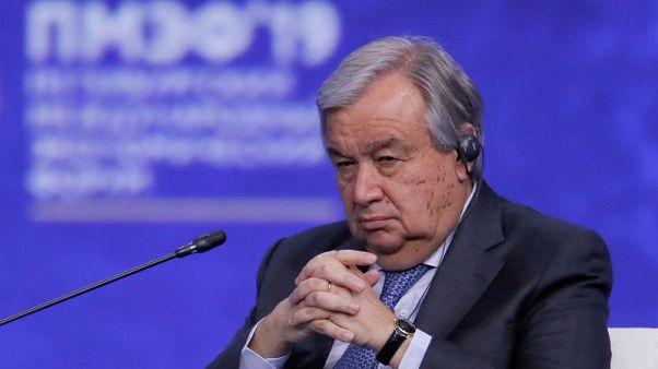 جوتيريش يناشد روسيا وتركيا العمل على استقرار الوضع بإدلب السورية