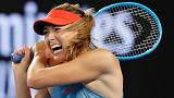 Sharapova wins on return from six-month injury break