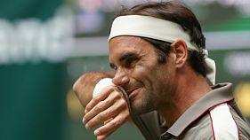 Le Suisse Roger Federer se qualifie pour le 2e tour de Halle le 18 juin 2019