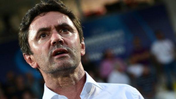 Le sélectionneur des Bleuets Sylvain Ripoll lors de la victoire sur l'Angleterre 2-1 lors de l'Euro à Cesena le 18 juin 2019