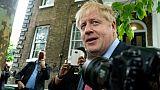 Boris Johnson devant son domicile, le 19 juin 2019 à Londres