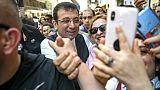 Le candidat de l'opposition Ekrem Imamoglu en campagne à Istanbul, le 21 mai 2019 en Turquie