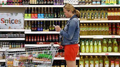 UK inflation falls to Bank of England target, underlying pressure weak