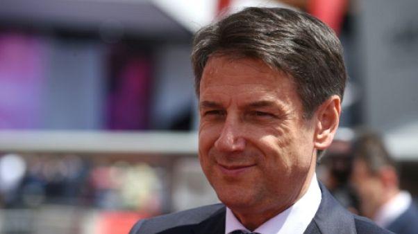 Le chef du gouvernement italien, Giuseppe Conte lors du visite au salon aéronautique du Bourget, le 17 juin 2019