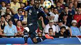 Le milieu français Jonathan Ikoné buteur lors du match de phase de groupes de l'Euro Espoirs face à l'Angleterre, à Cesena en Italie, le 18 juin 2019