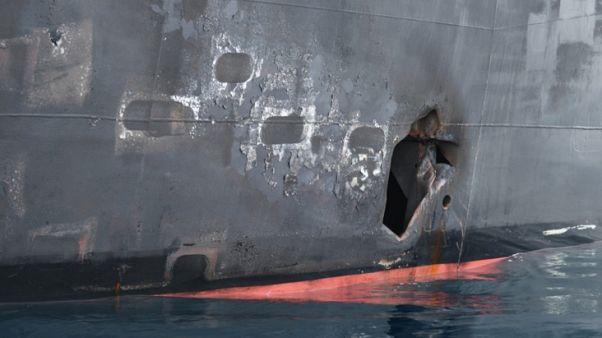 البحرية الأمريكية: شظايا ألغام ومغناطيس تشير لضلوع إيران في هجوم الخليج