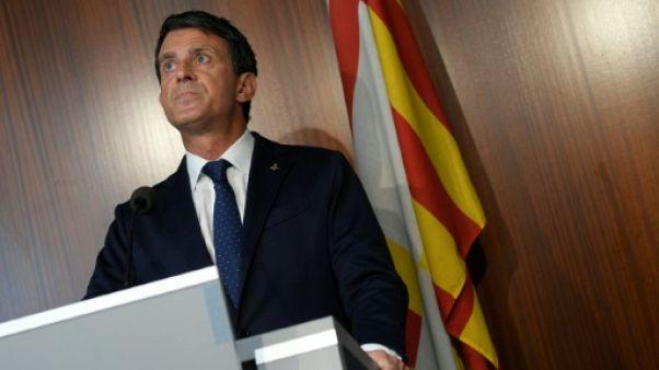 "Manuel Valls traite ""d'irresponsables"" ses anciens alliés de Ciudadanos"