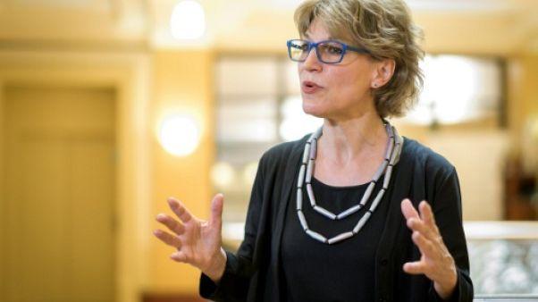 La rapporteure spéciale des Nations unies Agnès Callamard lors d'une conféfence de presse à Genève le 19 juin 2019