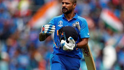 India's Dhawan ruled out of World Cup with fractured thumb