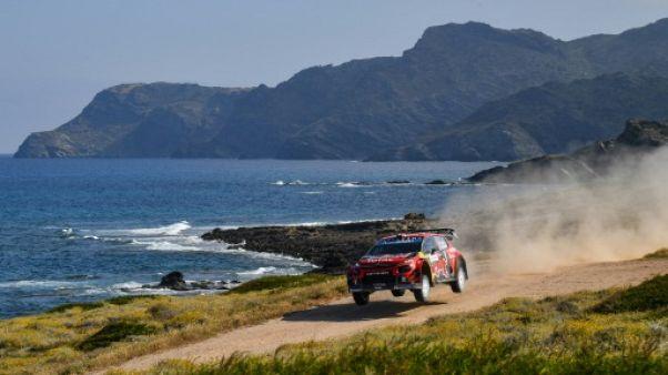 Sébastien Ogier lors de la Super Spéciale 17 du Rallye de Sardaigne, près d'Alghero, le 16 juin 2019
