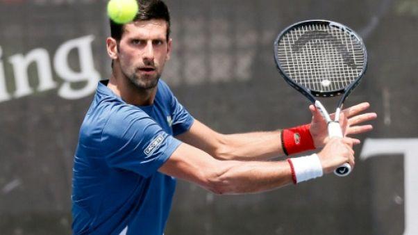 Le Serbe Novak Djokovic lors d'un entraînement à Belgrade, le 19 juin 2019