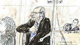Croquis d'audience de Josu Ternera le 19 juin 2019 au tribunal de Paris