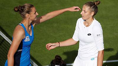 Kristyna beats Karolina in battle of Pliskova twins