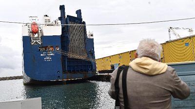 Nave armi: Bahri Jazan in porto a Genova