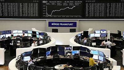 European shares hit six-week highs after Fed spurs rate cut hopes